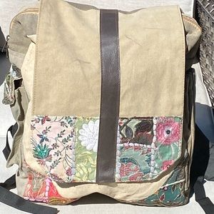 Vintage Addiction Hobo LG Backpack Recycled- NWT